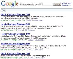 Hectic Capiznon Bloggers 2009 Results